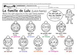 french y4 5 at describing my family je décris ma famille