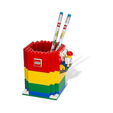 amazon com lego pencil holder u0026 minifigure u0026 2 pencils 850426