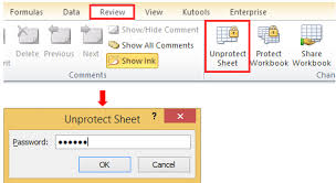 how to lock unlock cells in a protected worksheet