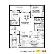 house plan for 37 feet by 45 feet plot plot size 185 square yards