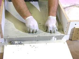 How To Build A Wood Table Top Podium by How To Build A Concrete Bathroom Countertop How Tos Diy