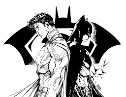 batman superman drawing