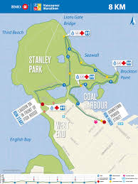 Spirit Route Map by Bmo Vancouver Marathon Course Info U0026 Map