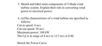 sketch and label main components of 3 blade wind t chegg com