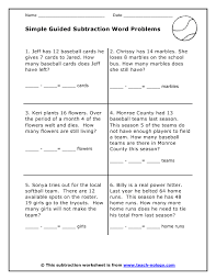 best ideas of subtraction word problems worksheets for your free