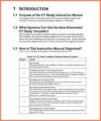 instruction manual template customer service training manual