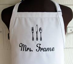 personalized apron for the chef customized apron with name