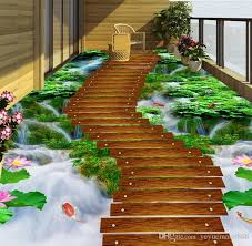 home and decor flooring vinyl flooring mural custom 3d floor tiles grass creek wooden