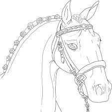 show horse lineart by tobiteus on deviantart