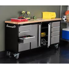 home depot black friday workbench trinity 72 in black rolling workbench with stainless steel face