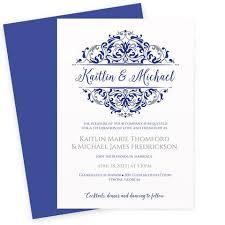 royal blue wedding invitations wedding invitation template royal blue silver