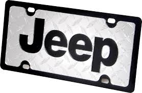jeep logo black eurosport daytona 34183dp jeep logo license plate in black