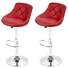 air lift adjustable swivel bar stools with seat back pad set of 2