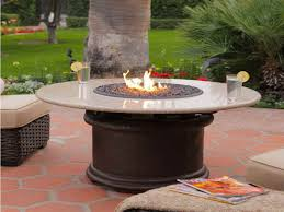 Patio Table With Firepit Patio Set With Propane Pit Table Place And Pits Gas Outdoor