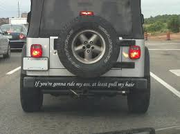 jeep wrangler stickers quite possibly the greatest bumper sticker i have seen to date