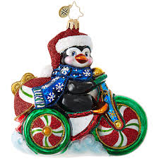cool tricycle ornament by christopher radko