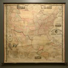 Wall Map Of The United States by The New York Central System Old Railroad Usa Map Prints