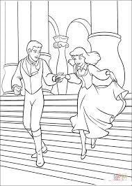 prince cinderella coloring free printable coloring