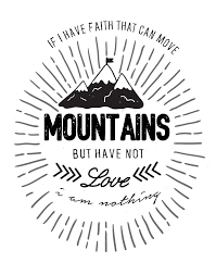 Love Anchors The Soul Print - if i have faith that can move mountains christian print