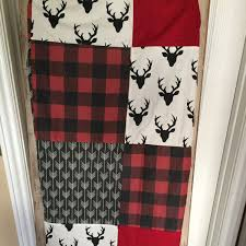 Hot Pink And Black Crib Bedding by Custom Crib Bedding Deer Plaid Arrow In Red And Black Buffalo