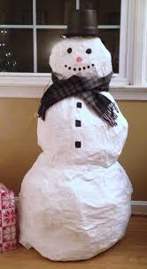 how to make a paper mache snowman so cute christmas craft
