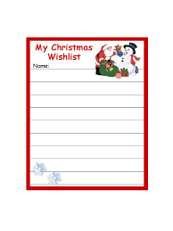 the christmas wish list epic template sle of christmas wish list form with santa claus