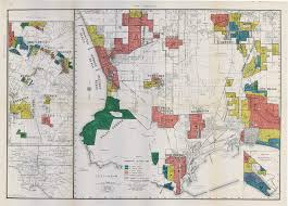 Greater Los Angeles Map by Segregation In The City Of Angels A 1939 Map Of Housing