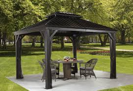 Pop Up Gazebos With Netting by Sojag Messina 10 Ft W X 10 Ft D Aluminum Permanent Gazebo