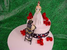 elegant bride and fireman to the rescue groom firefighter wedding