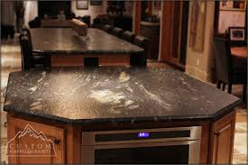 Kitchen Island With Granite Countertop Black Granite Table Tuscan Kitchen Mediterranean Kitchen
