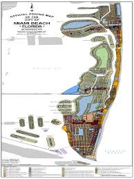 Miami City Map by Miami Beach Zoning Map Miami Map Of The United States