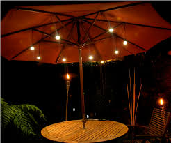 Patio Umbrella Lighting Patio Umbrella With Lights At Creative Of Led Patio