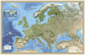 europe phisical map europe physical atlas wall map maps
