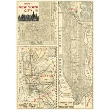 Large World Map Poster by Manhattan Poster New York Street Map Vintage Style Paper