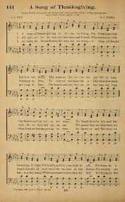 a song of thanksgiving hymnary org