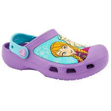 crocs meme crocs pre school girls frozen purple clogs girls shoes