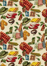 vintage christmas gift wrap 50s wrapping paper