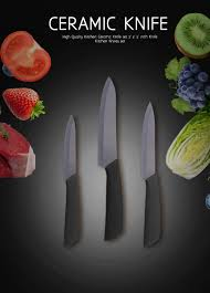 well reviewed 3pcs home kitchen knives set ceramic knife set
