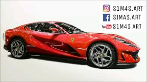 ferrari art ferrari 812 superfast drawing youtube