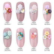online shop 10pcs alloy 3d nail art rose flowers jewelry nails