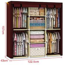 Bedroom Wardrobe Closet Amazon Com Youzee Home Portable Fabric Cover Cloth Hanger Rack