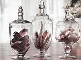 Bathroom Apothecary Jar Ideas Amazon Com Palais Glassware Clear Glass Apothecary Jars Set Of