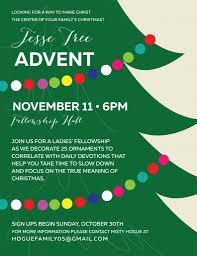 jesse tree advent ladies u0027 fellowship nov 11th first southern