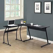 wood l black finish metal wood l shape corner computer desk