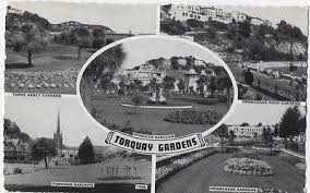 The Rock Garden Torquay Early Real Photo Postcard Torre Sands Park Torquay