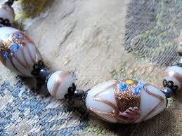 wedding bead necklace images Beautiful murano glass necklace venetian wedding cake art glass JPG