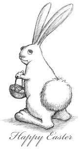 easter bunny sketched out