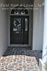 Faux Stone Patio by Reeeeeemix Front Door Edition First Home Love Life