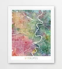 home decor winnipeg winnipeg city urban map poster winnipeg street map print