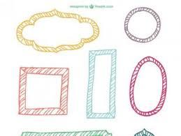 set of simple hand drawn frame vectors 05 free vectors ui download
